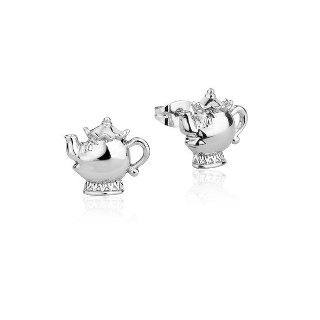 Couture Kingdom: Disney - Beauty and the Beast Mrs Potts Studs (White Gold)