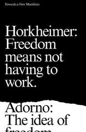 Towards a New Manifesto by Theodor Adorno image