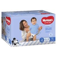 Huggies Ultra Dry Nappies Jumbo Pack - Size 4 Toddler Boy (72) image