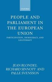 People and Parliament in the European Union by Jean Blondel image