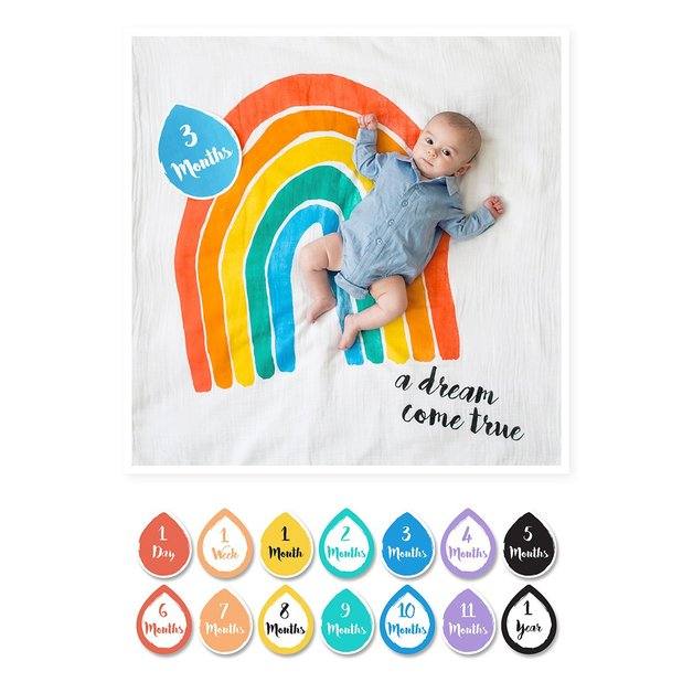 Lulujo's Baby First Year Milestone Blanket & Cards Set - A Dream Come True