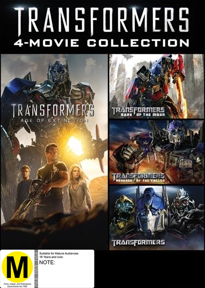 Transformers 1-4 Movie Box Set on DVD