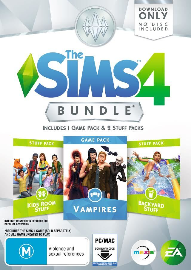 The Sims 4 Bundle Pack 7 (code in box) for PC image