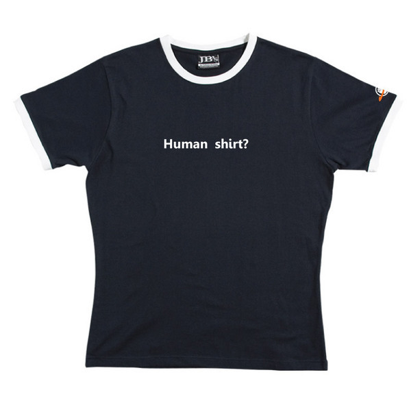 Human Shirt - Ringer Tee (Navy) for