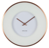 Karlsson Wall Clock - Illusion (White/Copper)