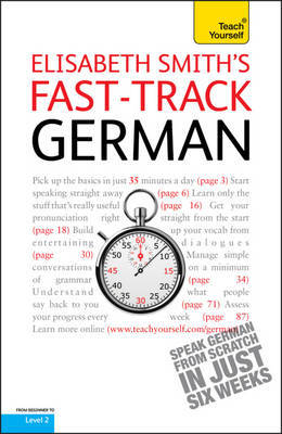 Fast-Track German Book/CD Pack: Teach Yourself by Elisabeth Smith image