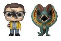 Jurassic Park: Dennis Nedry & Dilophosaurus - Pop! Vinyl 2-Pack
