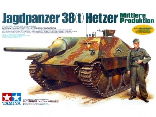 "Tamiya German Jagdpanzer 38t ""Hetzer"" Mid Production 1/35 Model Kit"