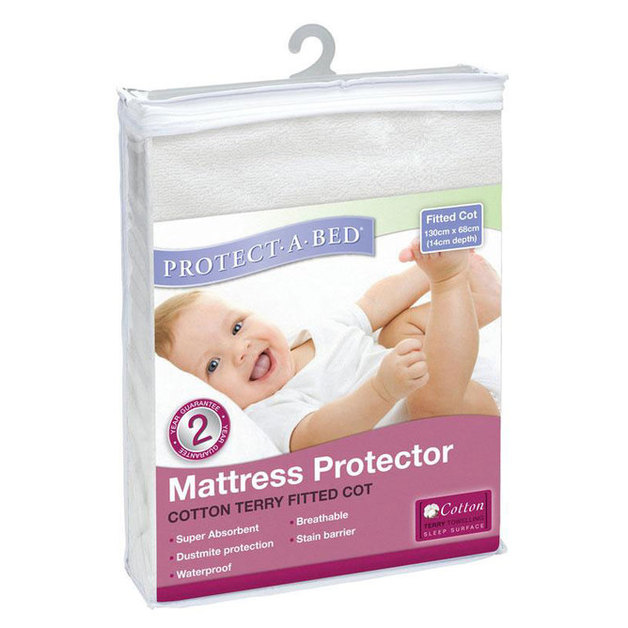 Protect-A-Bed Cotton Terry Fitted Cot Mattress Protector