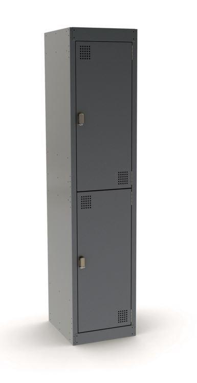 Proceed Steel 2 Door Locker 375w - Stone Grey