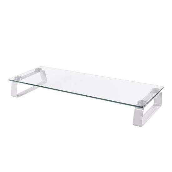 BRATECK: Universal Table top monitor Riser. Non-skid silicone pads protect work surface. Glass,aluminium, metal and plastic