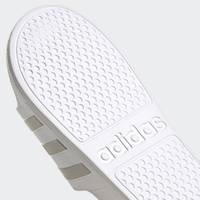Adidas Adilette Slides Size 10 - White/Gold