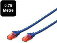 0.75m Digitus UTP Cat6 Network Cable - Blue image