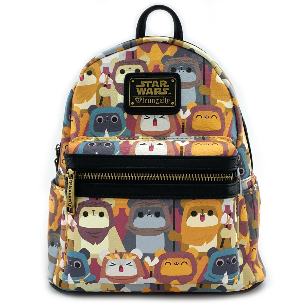 e92f0c70e34 Loungefly  Star Wars Ewok Print - Mini Backpack image ...