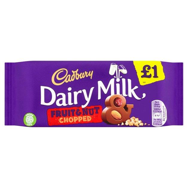 Cadbury Fruit & Nut Chopped 95g