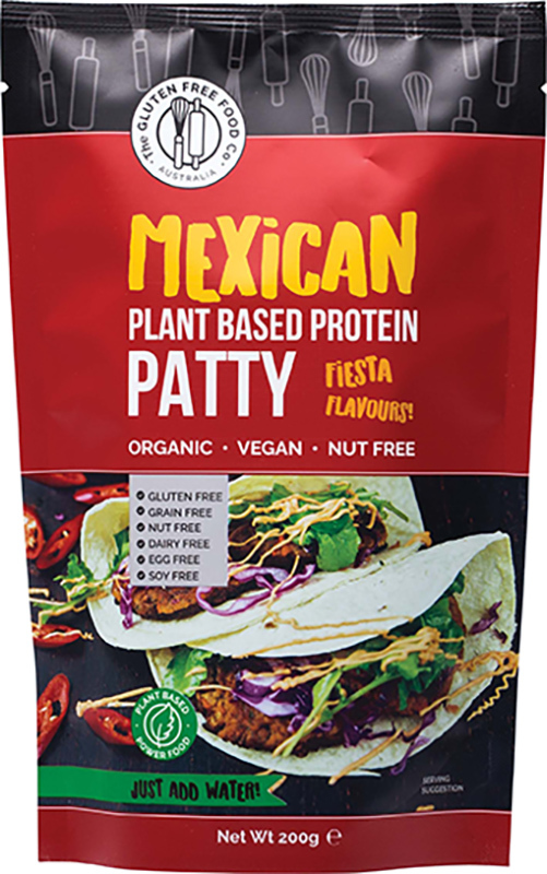 Gluten Free Mexican Plant Based Protein Patty (200g)