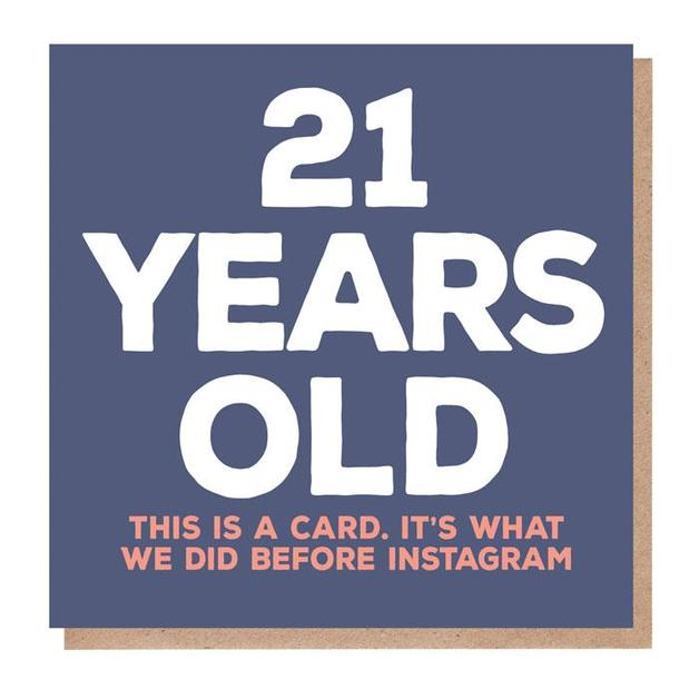 Mixed Messages: 21 Years Old Birthday Card