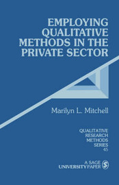 Employing Qualitative Methods in the Private Sector by Marilyn L. Mitchell image