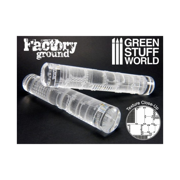 Green Stuff World Texture Rolling Pin: Factory Ground