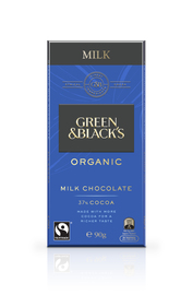 Green & Black's Organic Milk Chocolate 37% Cocoa (90g)