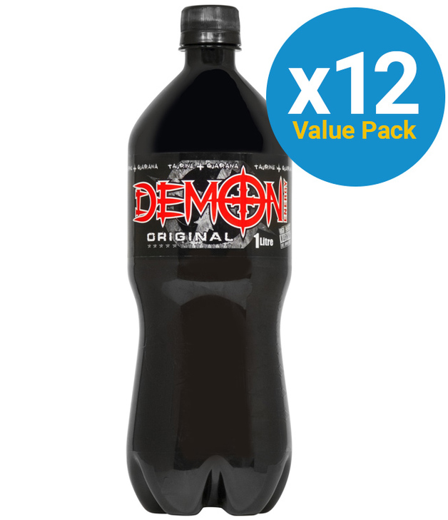 Demon Energy - Original 1L Bottle (12 Pack)
