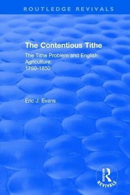 : The Contentious Tithe (1976) by Eric J Evans image
