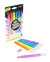 Crayola: Take Note - Erasable Highlighter Set (6-pc)