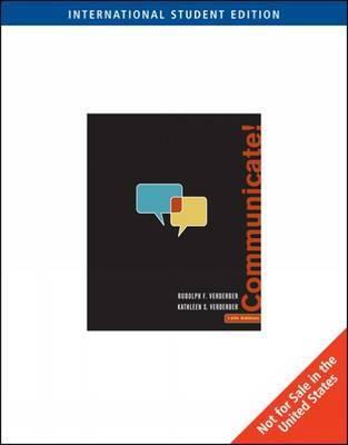 Communicate! by Rudolph Verderber