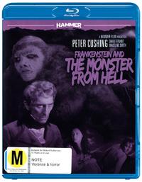 Hammer Horror: Frankenstein and the Monster from Hell on DVD, Blu-ray