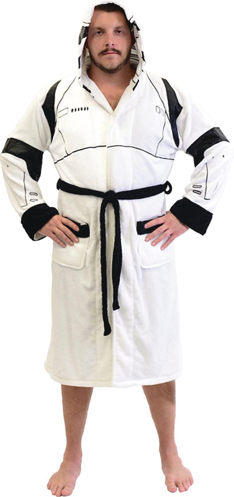 Star Wars Hooded Fleece Stormtrooper Bathrobe image