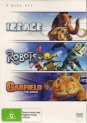 Ice Age / Robots/ Garfield (3 Disc Set) on DVD