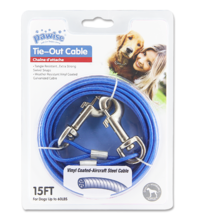 Pawise: Tie Out Cable - 15FT(Upto 60LBS),Red/Blue Asst.