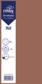 Envelope DLE Copper - 114x225mm (Pack 25)