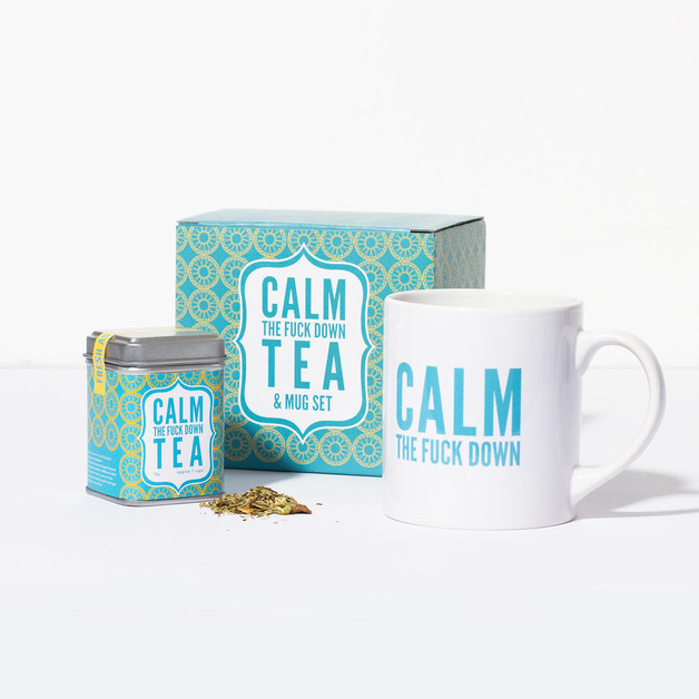 Calm The F*ck Down Tea Set