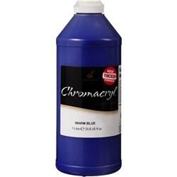 Chromacryl Students' Acrylic Paint 1 Litre (Warm Blue)