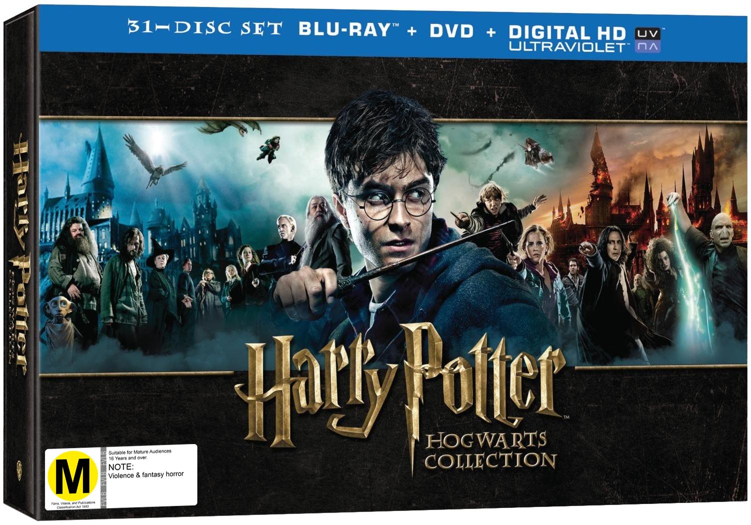 Harry Potter Book Box Set Australia : Harry potter hogwarts collection box set dvd blu ray