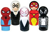 Spider-Man- Pin Mate Wooden Figure Set