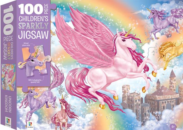 Hinkler: 100-Piece Sparkling Jigsaw Puzzle - Unicorns