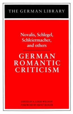 German Romantic Criticism by Friedrich Schlegel image