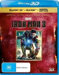 Iron Man 3 (3D Blu-ray/2D Blu-ray/Digital Copy) DVD