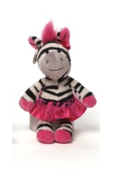 Gund: Twirly Whirly Backpack Clip - Zebra