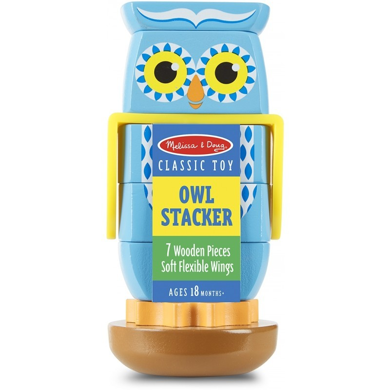 Melissa & Doug: Wooden Owl Stacker image