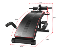 Ape Style Adjustable Incline Decline Sit-Up Bench with Resistance Bands