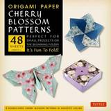 """Origami Paper Cherry Blossom Patterns Large 8 1/4"""" 48 Sheets: Perfect for Small Projects or the Beginning Folder"""
