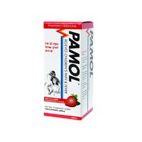 Pamol All Ages Strawberry Pain and Fever Relief Colour Free (100ml)