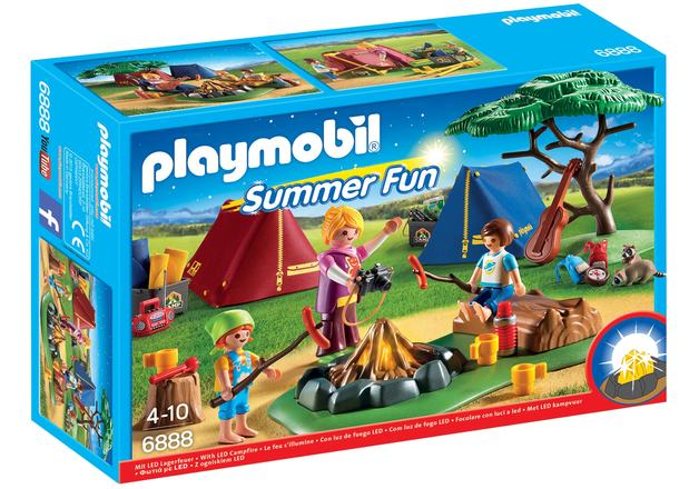 Playmobil: Summer Fun - Camp Site with LED Fire