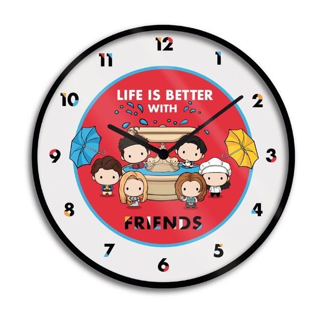 Friends Wall Clock Life is Better with Friends - Chibi