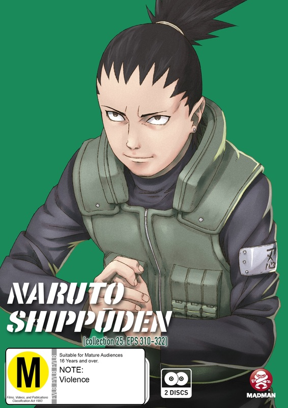 Naruto Shippuden - Collection 25 (Eps 310-322) on DVD
