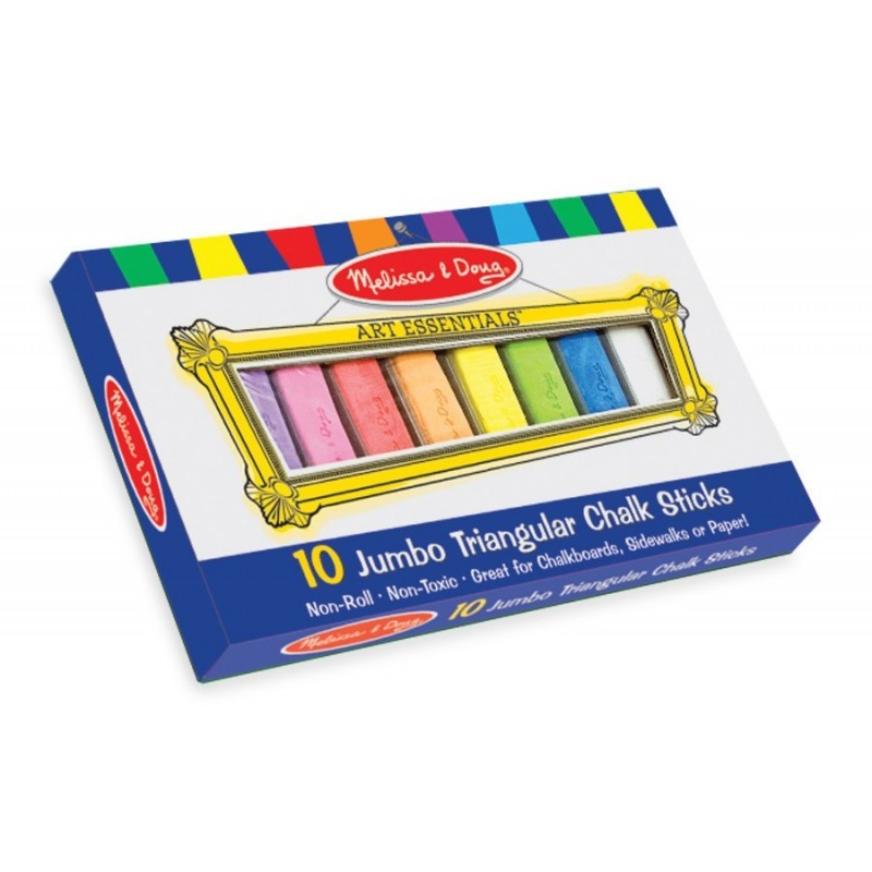 Melissa & Doug: 10 Jumbo Triangular Chalk Sticks image