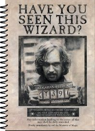 Harry Potter: A5 Notebook - Wanted Sirius Black